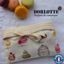 Kit chaufferette main Dorlotte Simple : housse bouillotte micro-onde + 1 coussin chauffant chauffe main