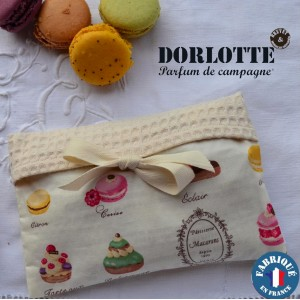 Kit chaufferette main Dorlotte Simple : housse bouillotte seche + 1 coussin chauffant chauffe main