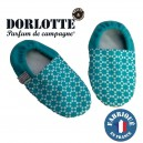 Chaussons chauffants graines chauffe-pied Dorlotte bleu