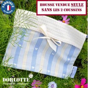 Housse bouillotte seche Dorlotte chaufferette coussin chauffant Double pour 2 bouillottes