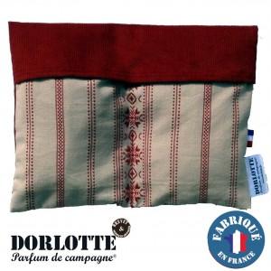 Kit chaufferette coussin chauffant Dorlotte Double : housse bouillotte seche + 2 bouillottes coussins chauffants