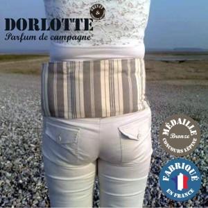 Kit bouillotte ceinture chauffante Dorlotte : housse bouillotte micro-onde + 3 chaufferette coussin chauffant dos