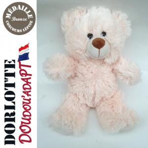 Doudou ours en peluche nounours blanc Emilien, la peluche ours blanc - le nounours peluche enfant ourson blanc
