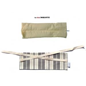 Pack bouillotte cervicale lombaire ( housse bouillotte cervicales lombaires + coussin chauffant dos cervicales )
