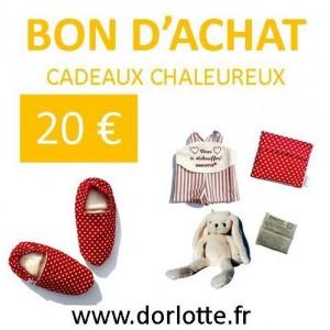 Cheque cadeau chaleureux Dorlotte