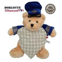 Doudou ours en peluche bouillotte nounours pilote : le doudou bouillotte peluche chauffante ourson pilote