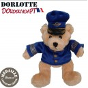Peluche ours pilote Leopold