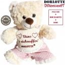 Doudou bouillotte peluche chauffante :bouillotte micro-onde + peluche ours blanc + robe viens te rechauffer