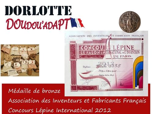 médaille AIFF pour Dorlotte Doudou'Adapt