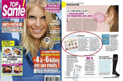 La bouillotte micro-onde Dorlotte dans le magazine top Sante