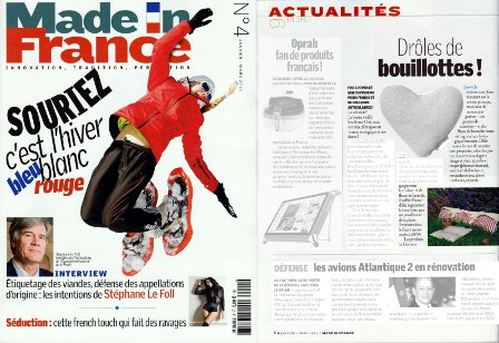 les bouillottes micro ondes sont dans le magazine Made in France