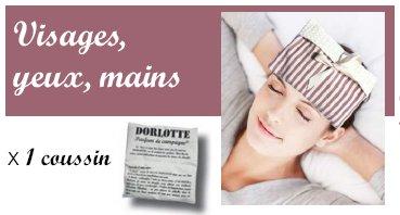 Kit chaufferette main, masque yeux Dorlotte