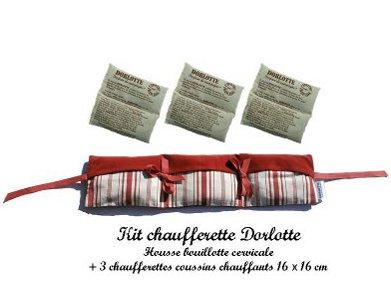 Kit chaufferette coussin chauffant + housse bouillotte micro-onde Dorlotte