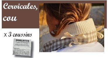 Le kit coussin cervical chauffant Dorlotte