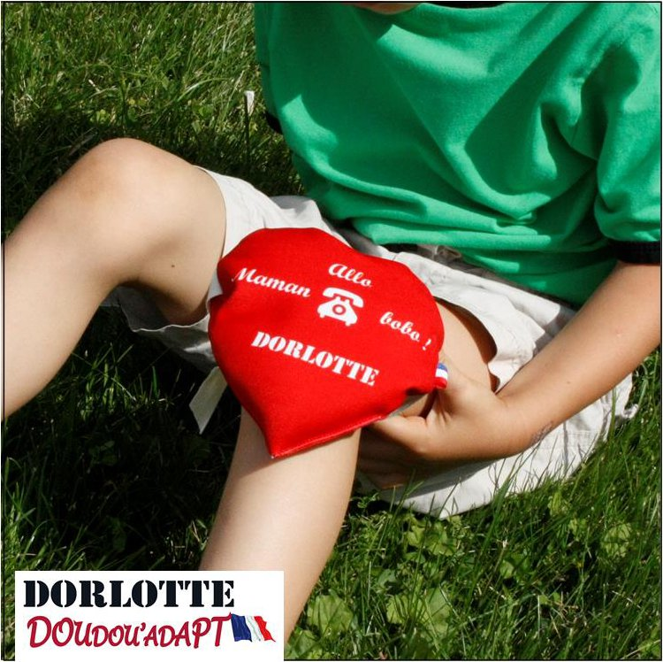 La bouillotte micro-onde Dorlotte soulage aussi comme poche de froid