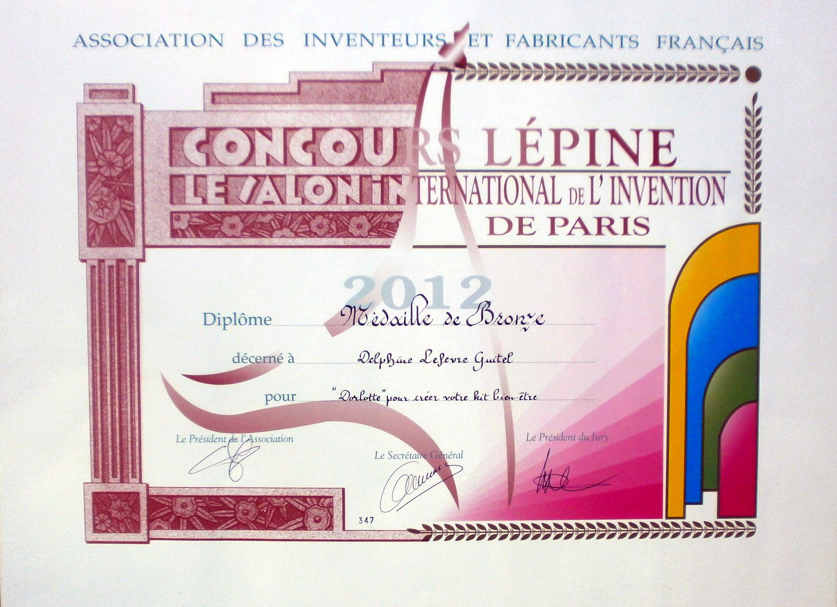 Le doudou bouillotte enfant médaillé du concours Lépine