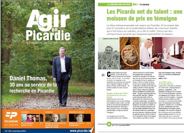Article sur Dorlotte dans Agir en Picardie