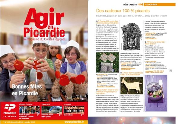 Article sur Dorlotte dans Agir en Picardie de décembre 2012