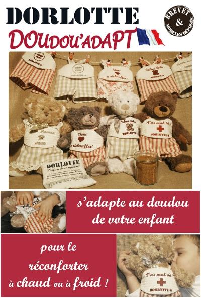 Les peluches bouillottes DorlotteDoudou'Adapt