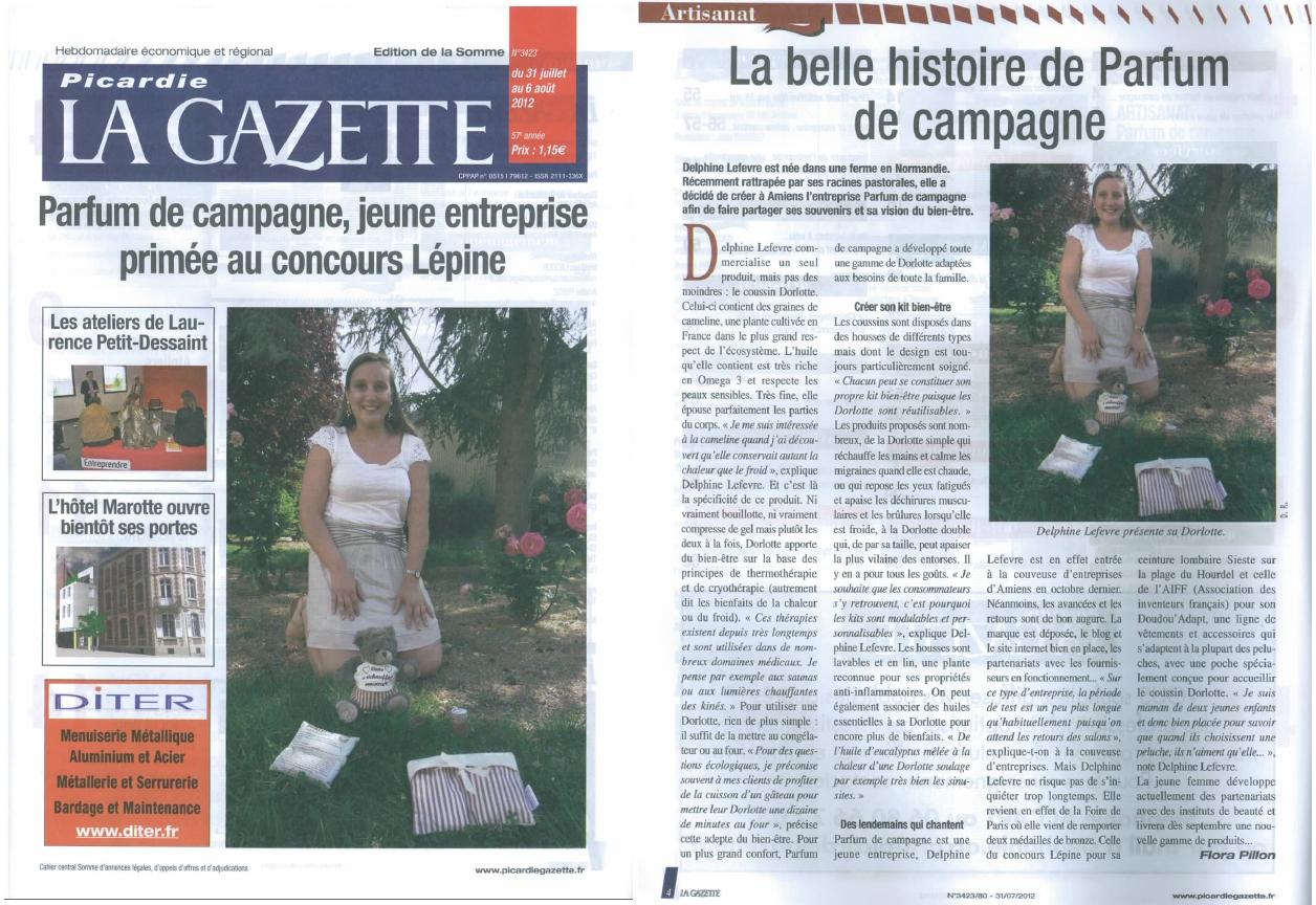 Les coussins chauffants Dorlotte dans Picardie la Gazette