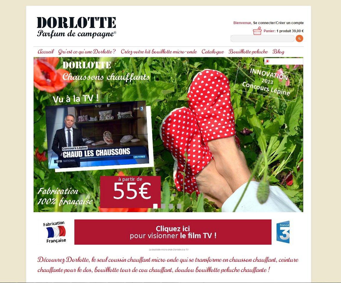 Site de vente en ligne de bouillotte micro-onde Dorlotte.fr